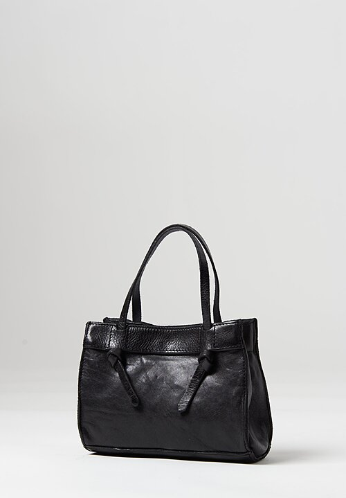 Campomaggi Mini Knotted Handle Shoulder Bag Black