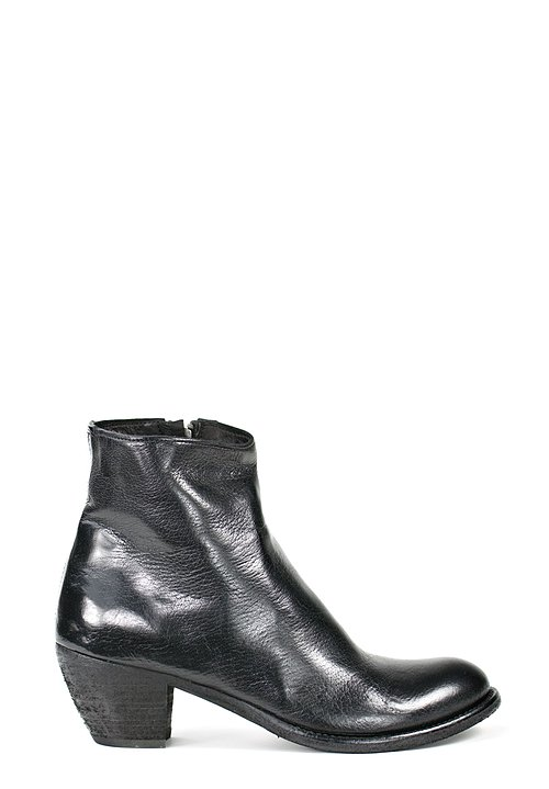 Officine Creative Side Zip Boots in Nero