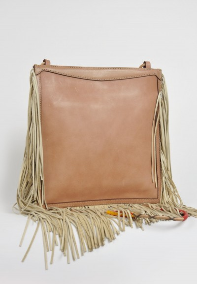 Etro Fringe And Beaded Bag In Natural Santa Fe Dry Goods