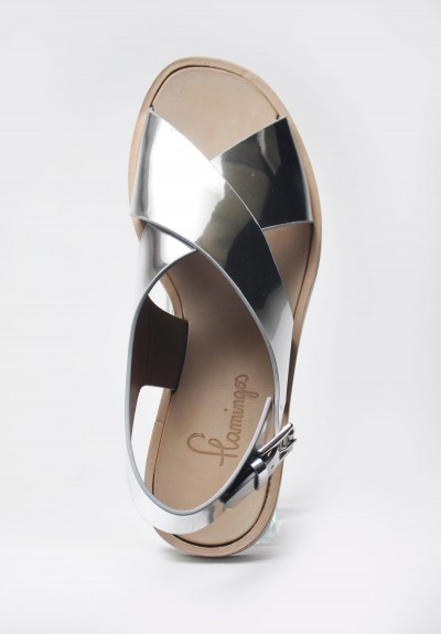 Flamingos Avalon Open Toe Platform Sandal in Silver
