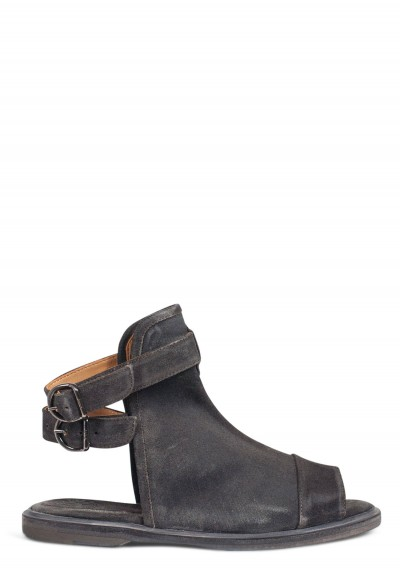 Fiorentini and Baker Jeb high Top Open Toe Suede Sandal in Lavagna