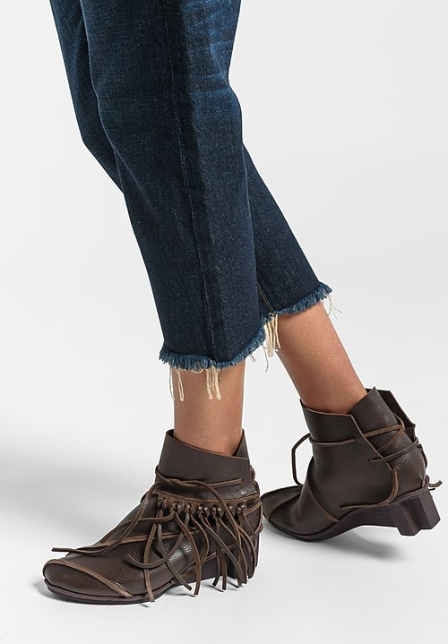 Trippen California Fringed Bootie in Espresso