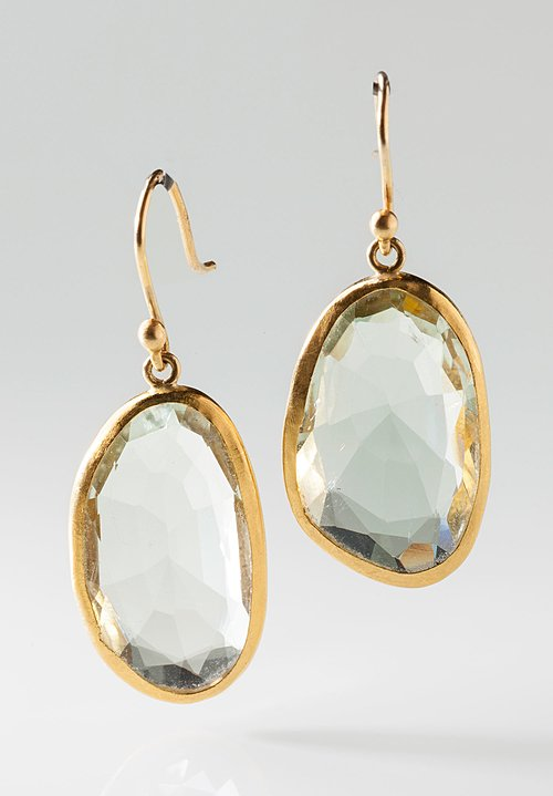 Heike Grebenstein Faceted Beryl 22k Earrings