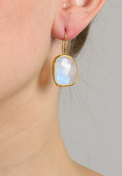 Heike Grebenstein Faceted Moonstone 22k Earrings