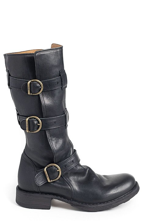 Fiorentini and Baker 7040-15 Triple Buckle Boot in Black