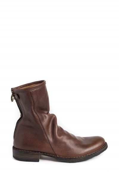 Fiorentini and Baker Even Crumpled Front Mid Heel Boot in Copper