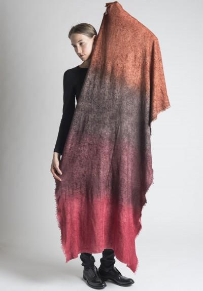 Faliero Sarti Raya Overdye Rough Ombre Wool Silk Scarf In