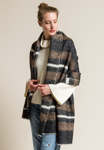 Denis Colomb Dolpo Shawl in Brown/Black