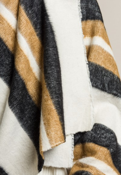 Denis Colomb Dolpo Shawl in Cream and Black