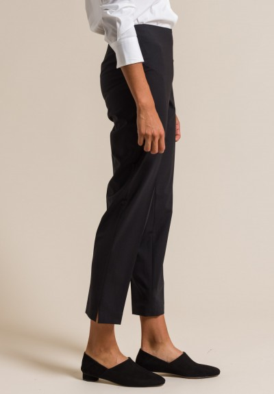 Brunello Cucinelli Wool Blend Trousers in Black