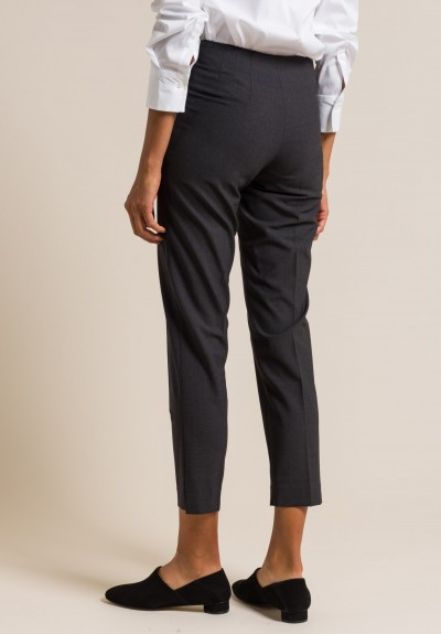 Brunello Cucinelli Wool Blend Trousers in Anthracite