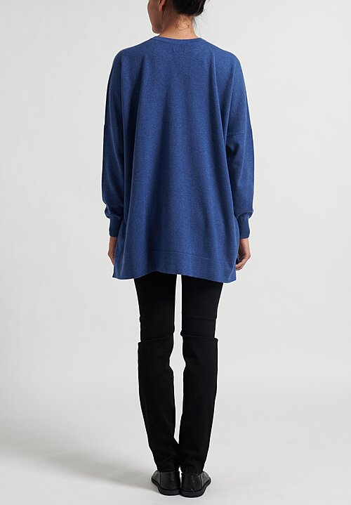 Hania New York Cashmere Marley Sweater in Soft Denim Blue