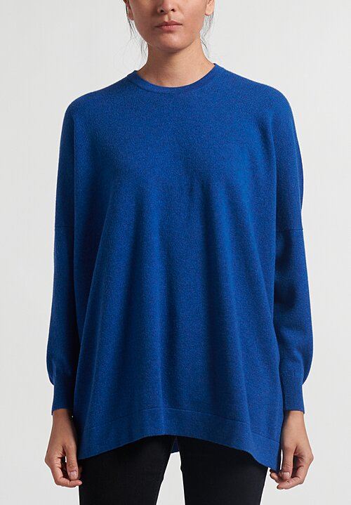 Hania New York Cashmere Marley Crewneck Sweater in Olympian Blue