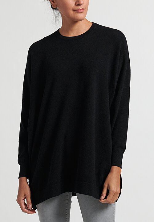 Hania New York Marley Crewneck Sweater in Black