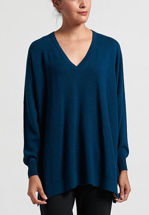 Hania New York V-Neck Cashmere Sweater in Fair Isle