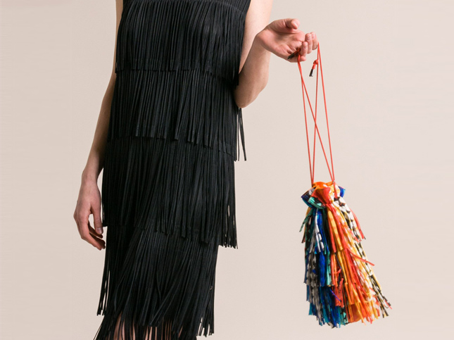 New Issey Miyake Pleats Please Fringe Purse | Santa Fe Dry Goods & Workshop