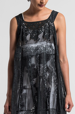 Marc Le Bihan Silk/Cotton Lace Dress in Black | Santa Fe Dry Goods & Workshop