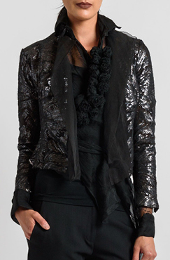 Marc Le Bihan Sequin Blazer in Black | Santa Fe Dry Goods & Workshop