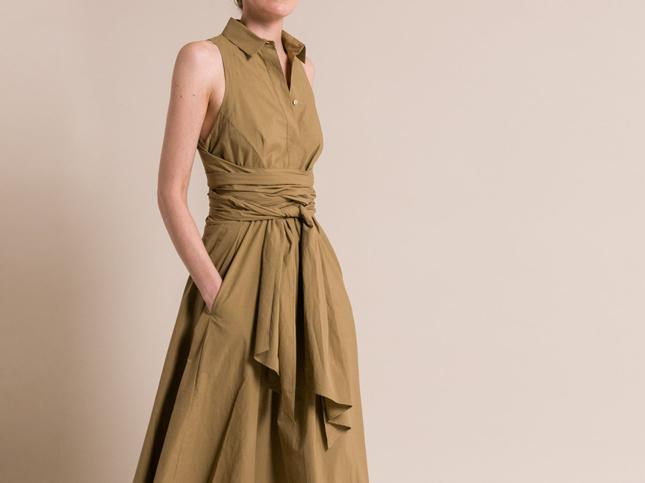 New Urban Zen Ochre Brown Dress for Spring Summer 2017 | Santa Fe Dry Goods & Workshop