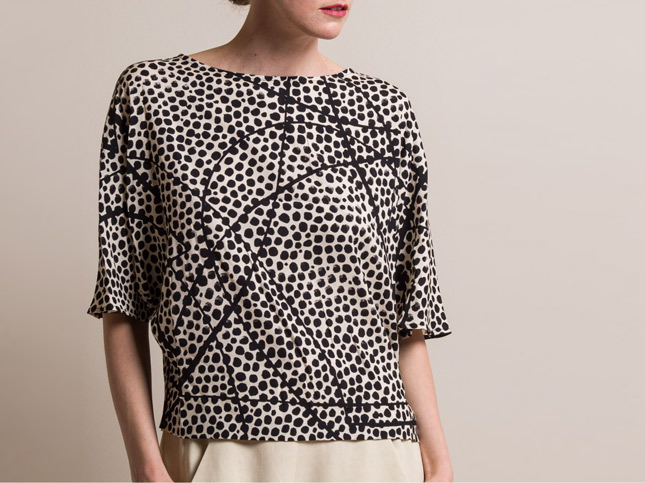 Zero + Maria Cornejo Silk Vero Top in Elliott Dot | Santa Fe Dry Goods & Workshop