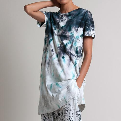 Gilda Midani Cotton Japa Pattern Tunic in Lisbon Stain and Gilda Midani Pattern Dyed Silk Pants | Santa Fe Dry Goods & Workshop