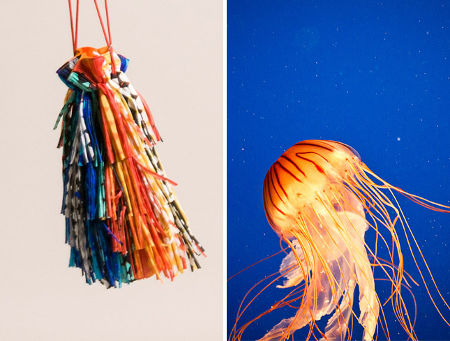 Issey Miyake Pleats Please Fringe Handbag in comparison with a Jellyfish | Santa Fe Dry Goods & Workshop