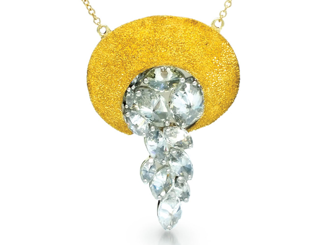 TAP by Todd Pownell gold necklace with inverted diamonds | Santa Fe Dry Goods & Workshop