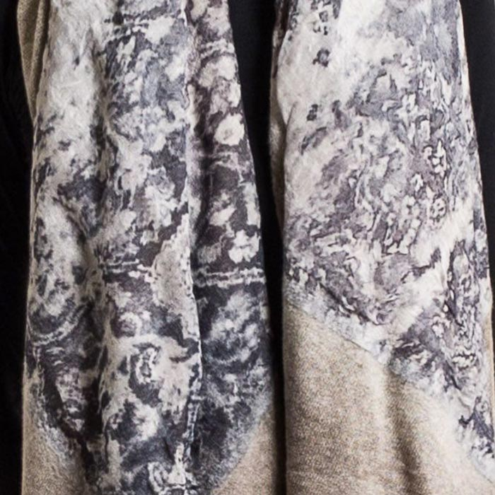 Avant Toi Cashmere and Felted Modal Print Scarf Corda | Santa Fe Dry Goods & Workshop