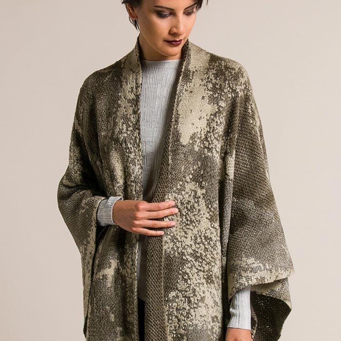 Avant Toi Jacquard Poncho in Corda | Santa Fe Dry Goods & Workshop