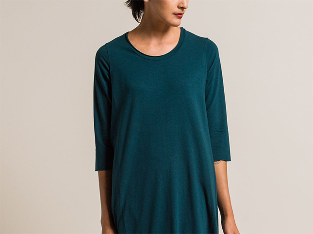 New Labo.Art Abito Ortica Jersey Dress in Baltic Blue | Santa Fe Dry Goods & Workshop