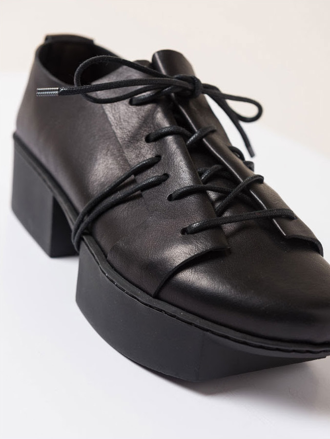 Trippen Rift Black Leather Shoe | Santa Fe Dry Goods & Workshop