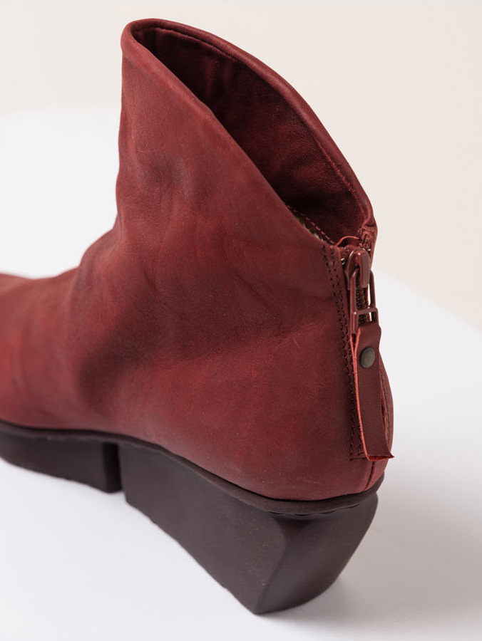 Trippen Swift Red Suede Leather Bootie | Santa Fe Dry Goods & Workshop