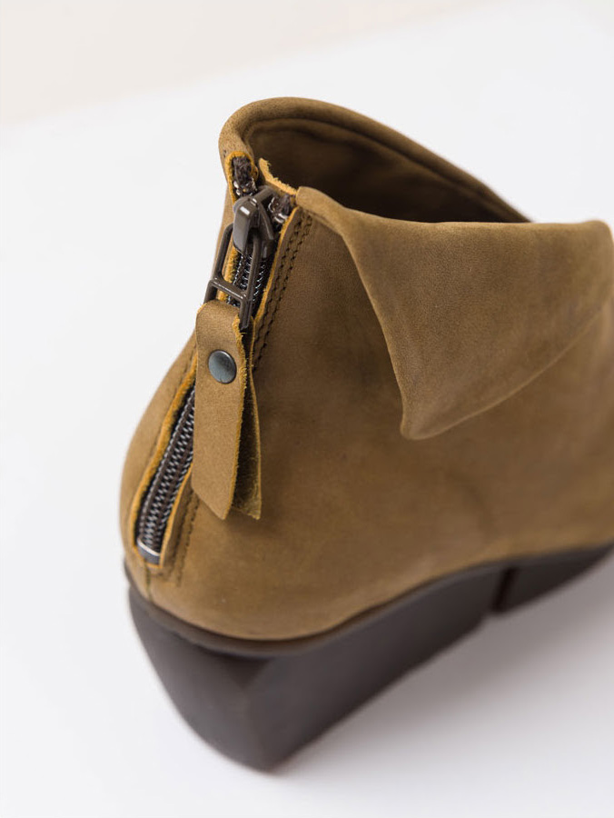 Trippen Galaxy Mustard Yellow Suede Leather Bootie | Santa Fe Dry Goods & Workshop