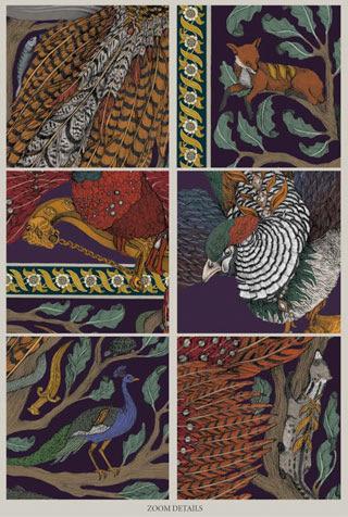 Sabina Savage Fall/Winter 2017 Pheasant Tree Scarf Details | Santa Fe Dry Goods & Workshop
