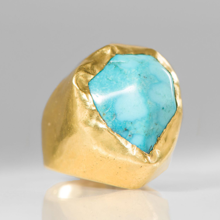 Pippa Small 18K Gold & Tibetan Turquoise Ring | Santa Fe Dry Goods & Workshop