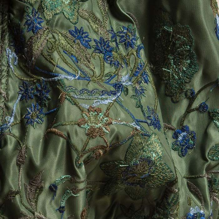 Sacai Floral Embroidered Top in Khaki Green | Santa Fe Dry Goods & Workshop