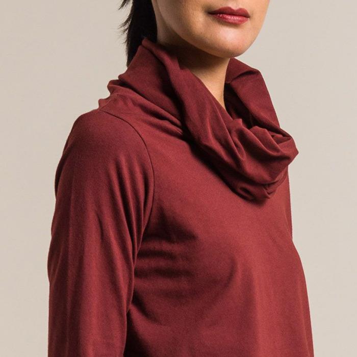 Maglia Antonia Jersey Top in Cordovan Red | Santa Fe Dry Goods & Workshop