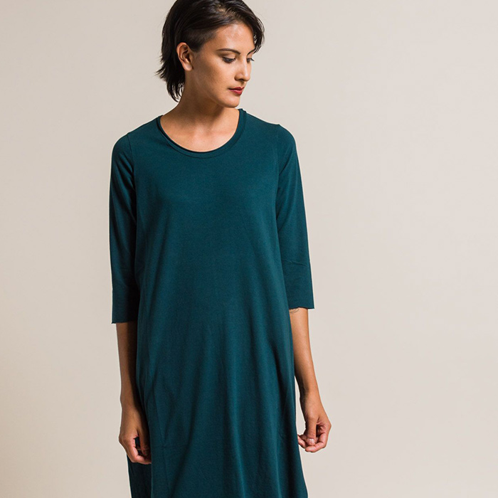 New Labo.Art Abito Ortica Jersey Dress in Baltic Teal