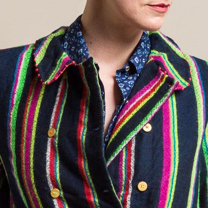 Péro Silk Lined Wool Multicolor Stripe Jacket | Santa Fe Dry Goods & Workshop