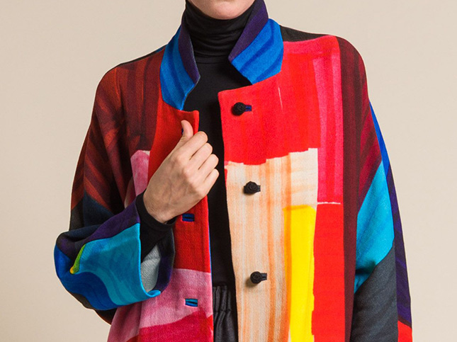 Daniela Gregis Wool Oversize Papavero Print Jacket in Citta | Santa Fe Dry Goods & Workshop