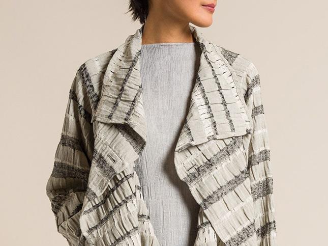 Nuno Wool/Cotton Reversible Midaredan Jacket in Grey | Santa Fe Dry Goods & Workshop