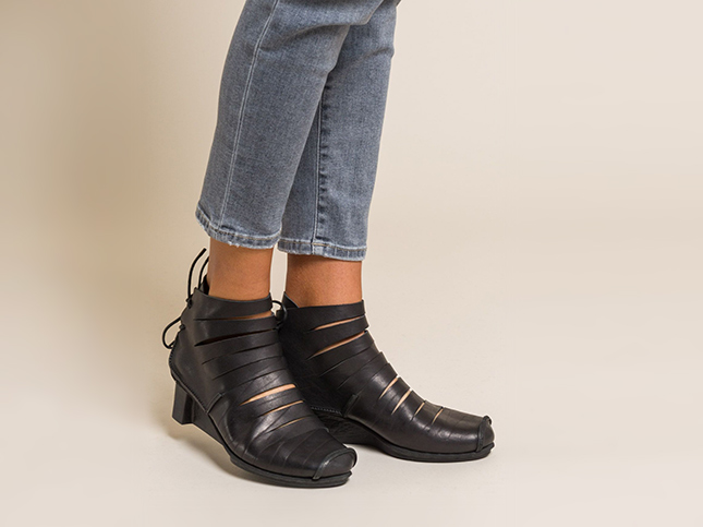 Trippen Black Leather Fence Ankle Boot | Santa Fe Dry Goods & Workshop