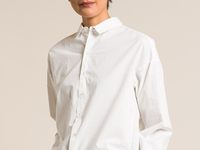 Album Di Famiglia Cotton Men's Cut Shirt in Milk | Santa Fe Dry Goods & Workshop
