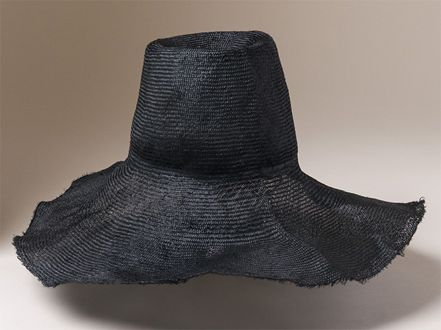 Reinhard Plank Straw Comme Hat in Black | Santa Fe Dry Goods & Workshop