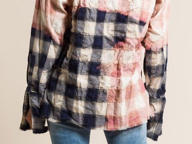 Greg Lauren Cotton Beach Faded Studio Shirt in Navy/White   Santa Fe Dry Goods & Workshop