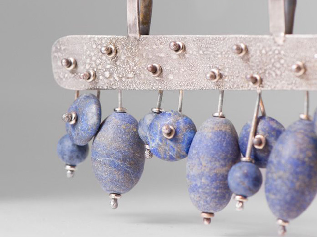 Holly Masterson Lapis Lazuli Adornment & Sterling SIlver Necklace | Santa Fe Dry Goods & Workshop