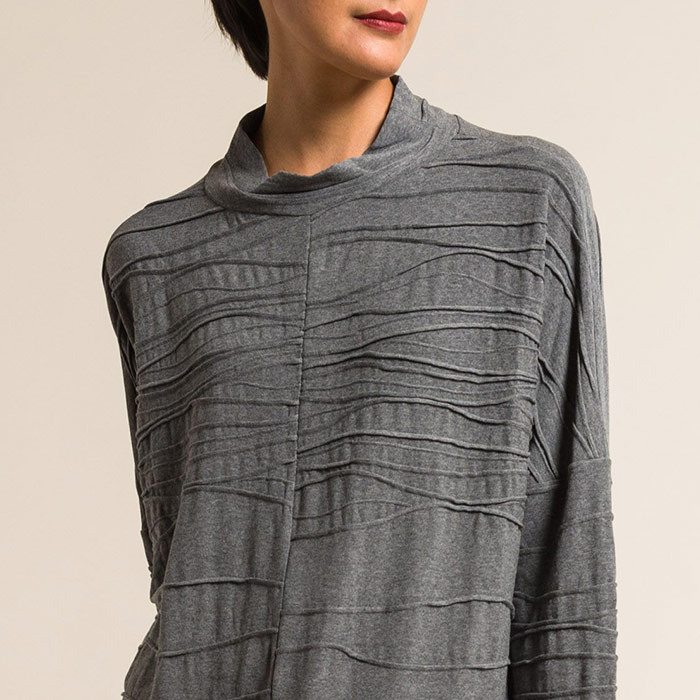 Oska Oversized Vernita Top in Granite