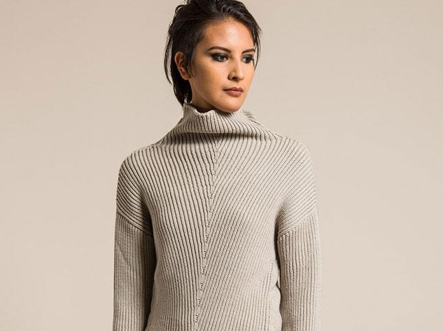 Annette Görtz Merino Wool Amin Sweater in Grege | Santa Fe Dry Goods & Workshop