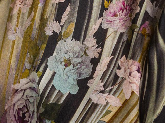 Alberta Ferretti Silk Drapes & Floral Print Top | Santa Fe Dry Goods & Workshop
