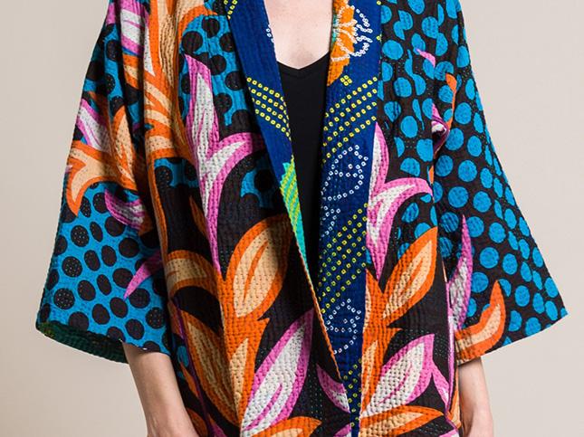 Mieko Mintz 4-Layer Custom SF Print Kimono Jacket